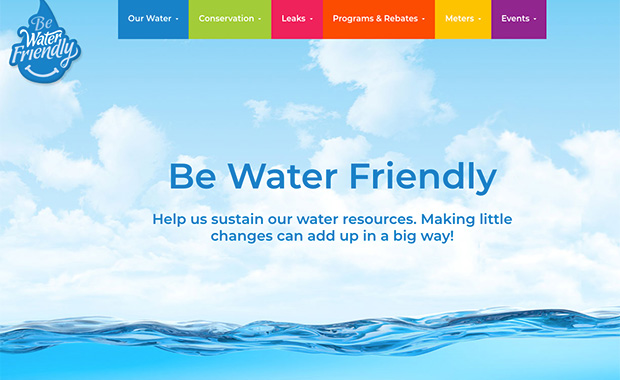 New Be Water Friendly Website